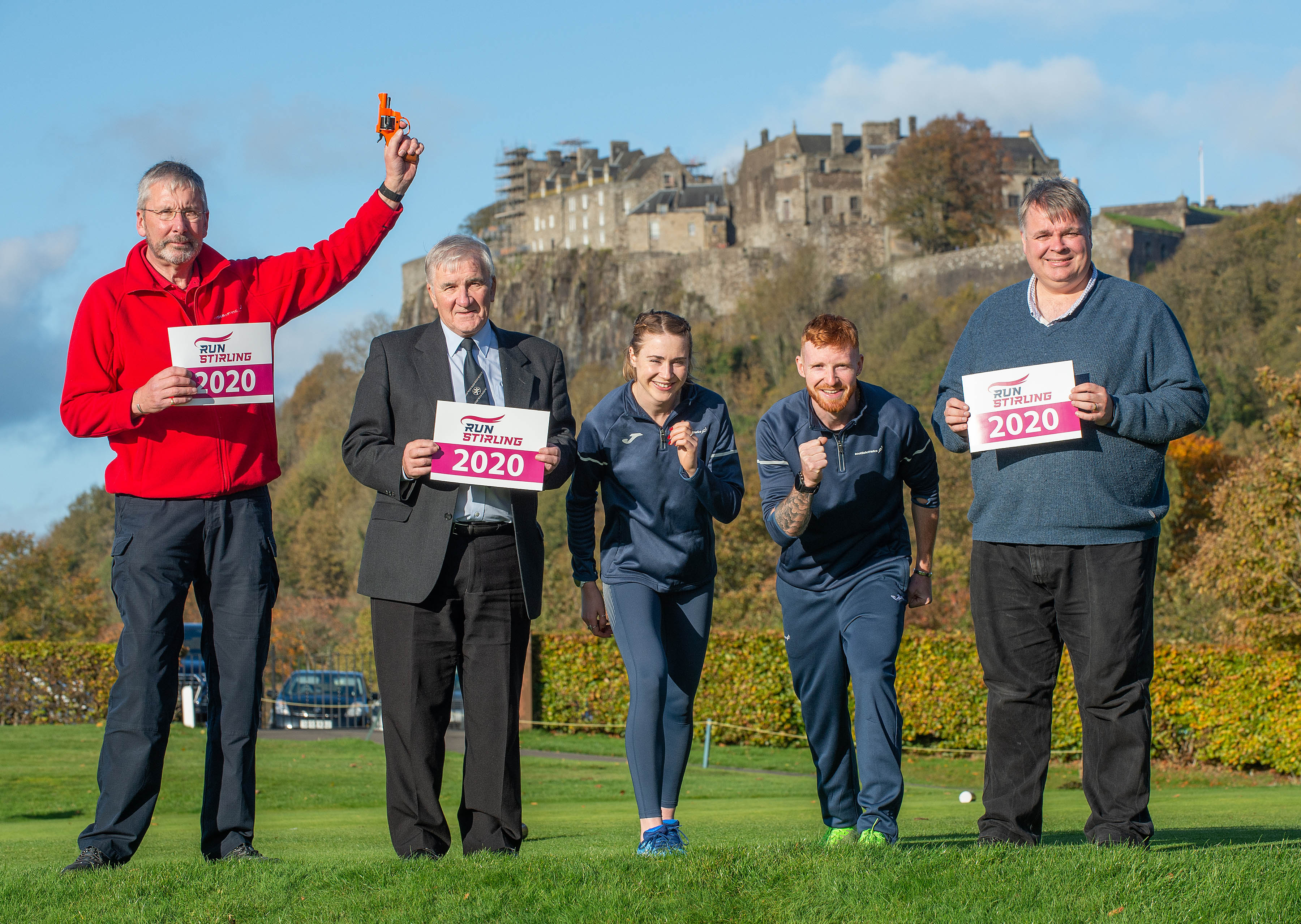 Councillors and Participants at Stirling Run Event