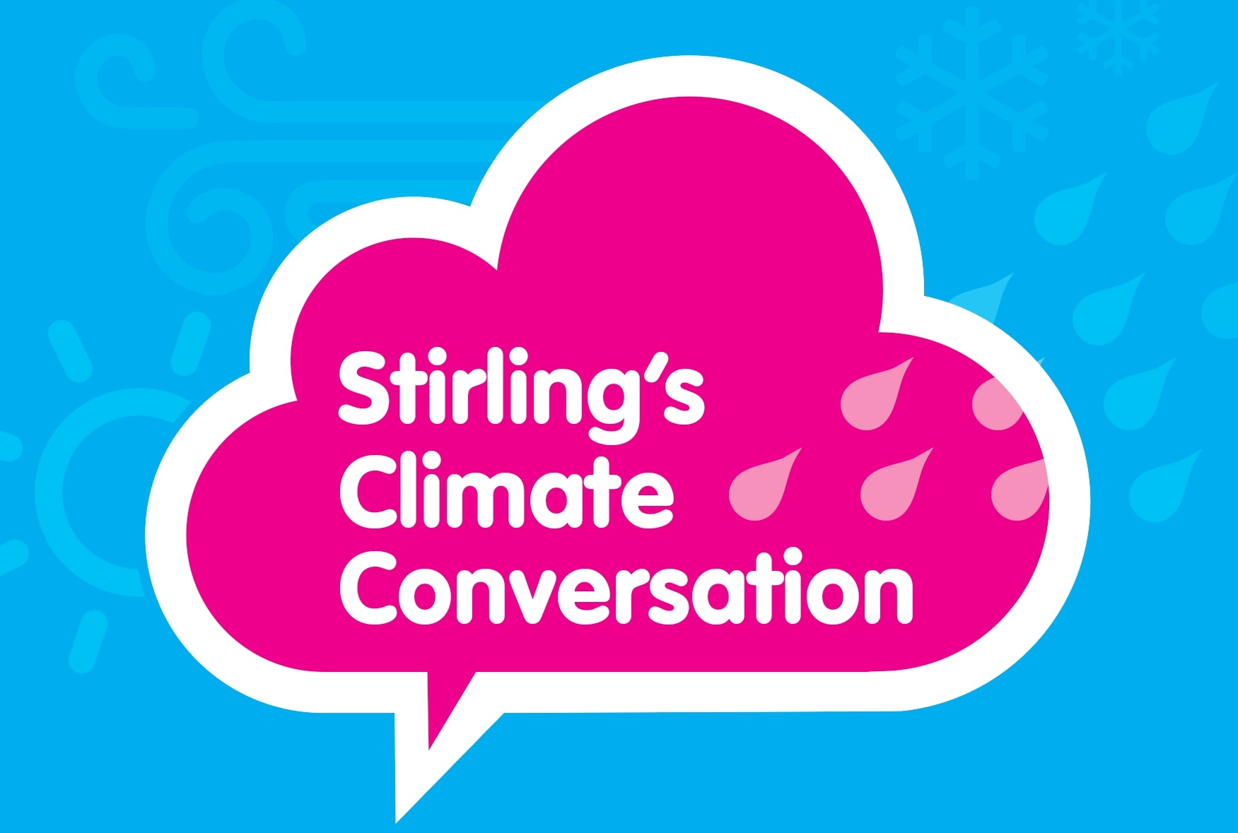 The main logo promoting Stirling's Climate Conversation